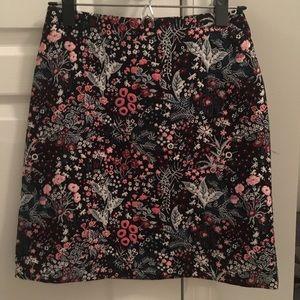 H&M Floral Mini Skirt Size 4
